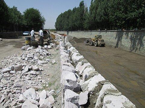 بسترسازی رودخانه بازار قزوین