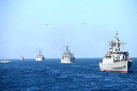 رزمایش دریایی مشترک آمریکا و انگلیس در خلیج فارس