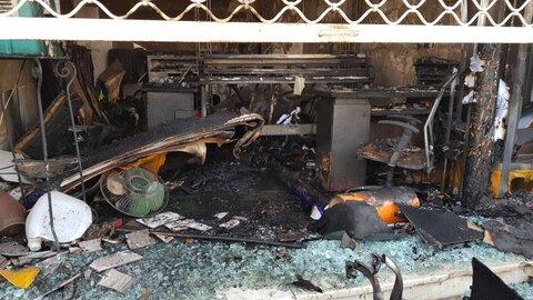 آتشسوزی در مغازه یک مجتمع تجاری اطفاء شد+عکس