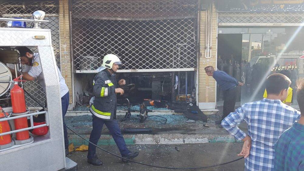 آتش سوزی در بازار اصفهان