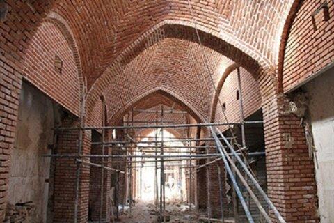 مرمت راسته پنیر فروشان بازار تاریخی ارومیه به زودی تکمیل میشود