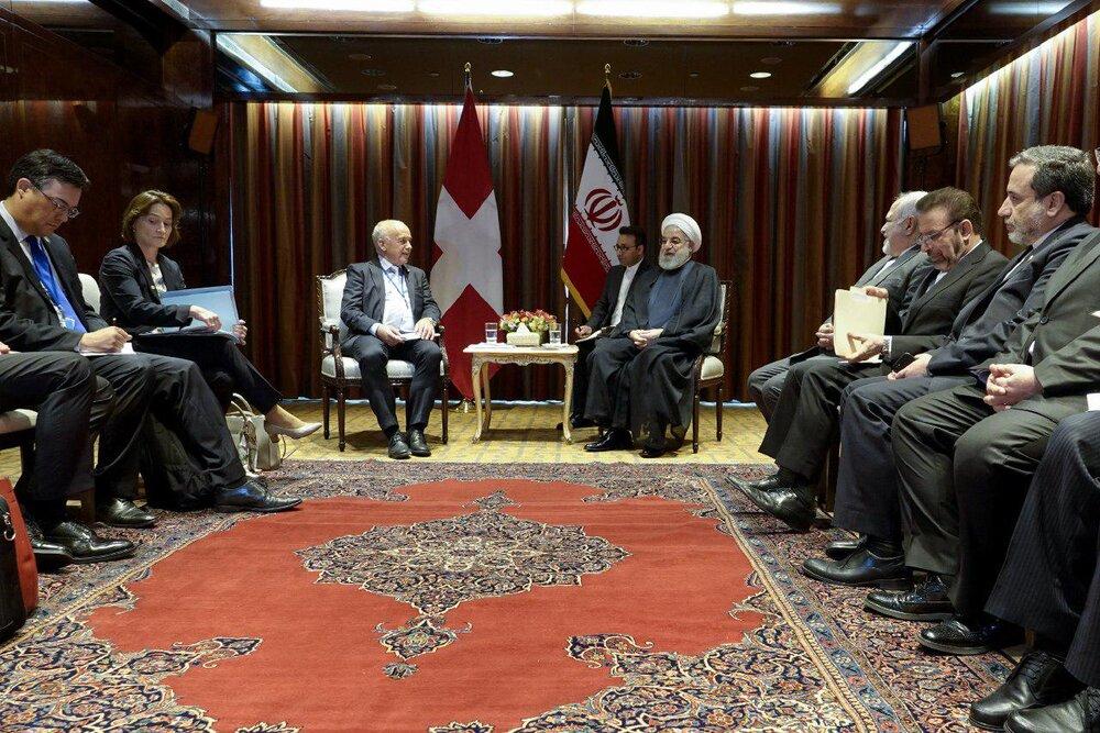 روسای جمهوری ایران و سوییس بر تحکیم مناسبات تاکیدکردند