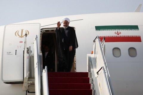 روحانی ایروان را به مقصد تهران ترک کرد