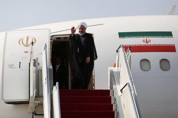 رئیسجمهور تهران را به مقصد ارمنستان ترک کرد