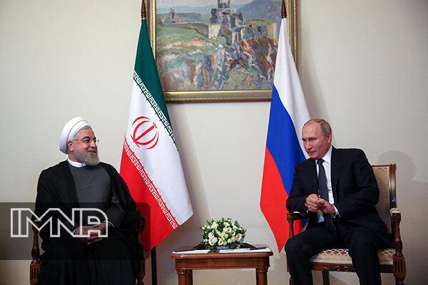 رایزنی دکتر روحانی و پوتین درباره مسایل دوجانبه