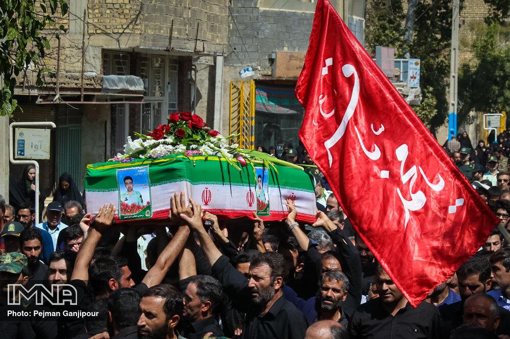تشییع شهید مدافع امنیت میلاد امینی