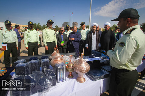 رونمایی از کشفیات نیروی انتظامی اصفهان