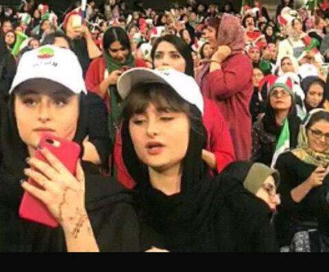 دختران نقی در استادیوم آزادی