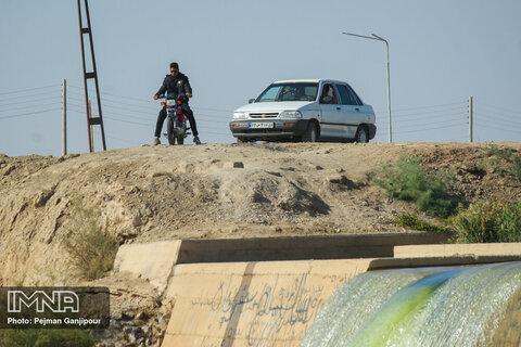 آب بند جندیج روستای فیض آباد