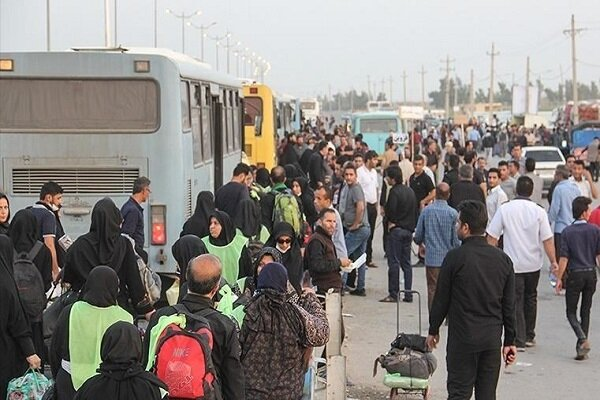 خدمترسانی شبانهروزی ناوگان اتوبوسرانی کرمانشاه به زائران اربعین