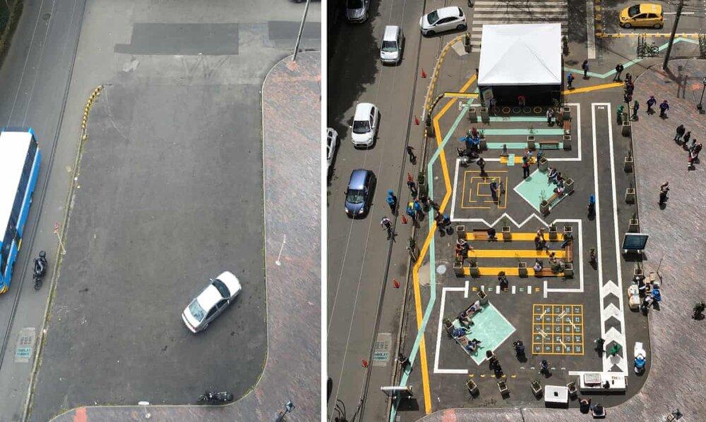 خیابانهای خطرناکی که با رنگآمیزی امن شد +عکس