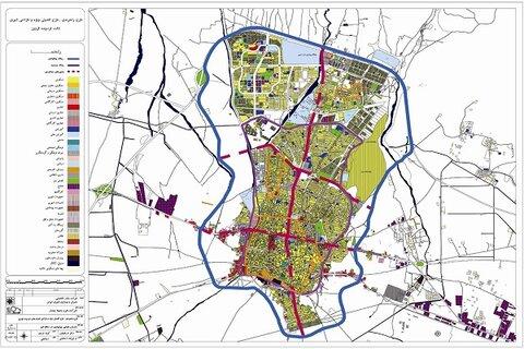به روزرسانی ۲۰ مورد از کاربریهای مختلف در نقشه شهر قزوین
