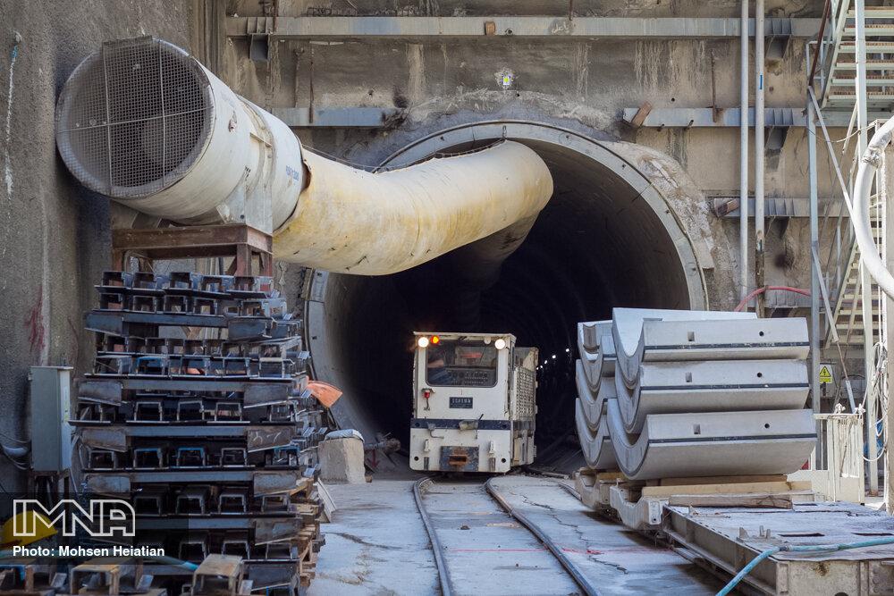 پیشرفت ۲۴ درصدی سازه و سیویل خط دو متروی اصفهان