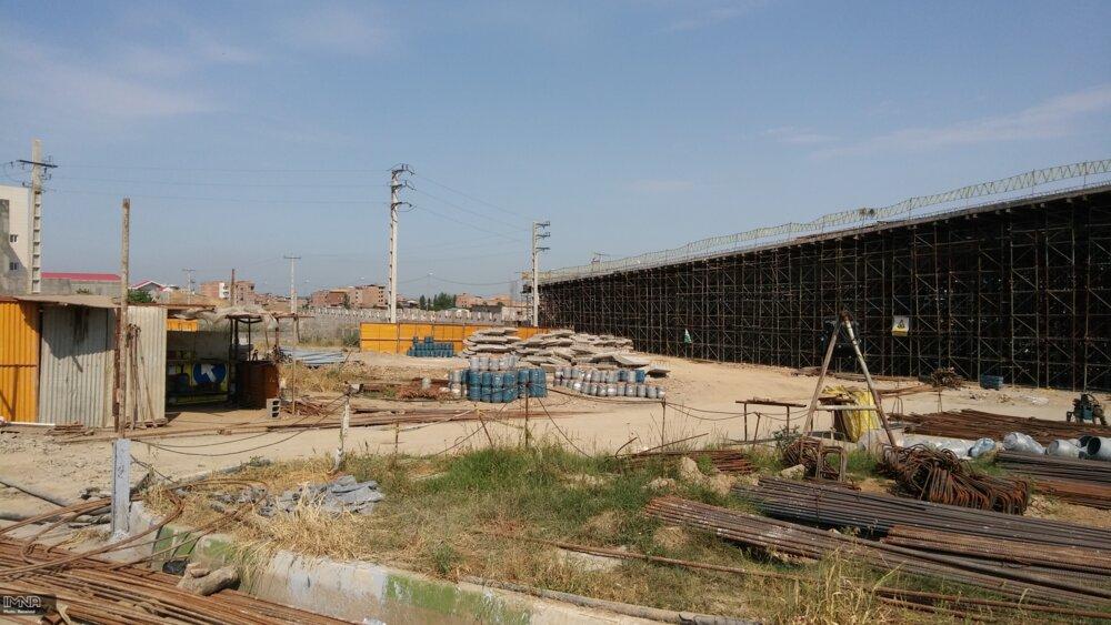 یک ماه تا پایان پروژه روگذر محور افسران گرگان