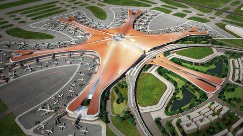 بزرگترین فرودگاه جهان در پکن با طرح ستاره دریایی