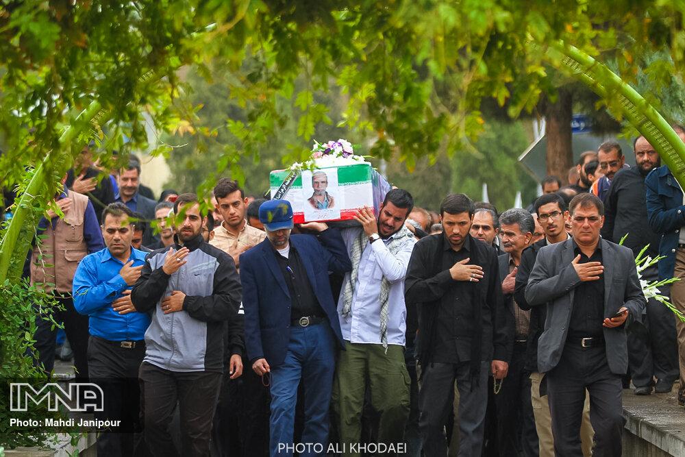 مراسم تشییع جانباز شهید مرتضی صراطی