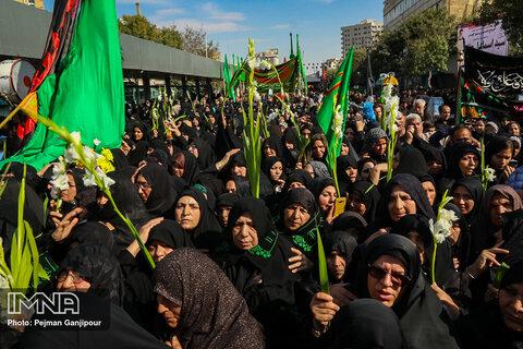 قافله عزای زنان محله نوغان شهر مشهد در سوگ امام رضا(ع)