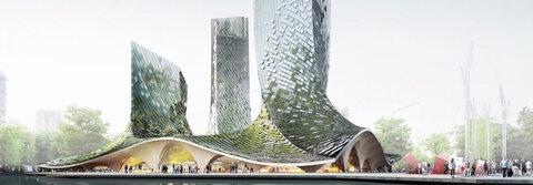 عجایب شهر/ برجهای جلبکی در هانگژو
