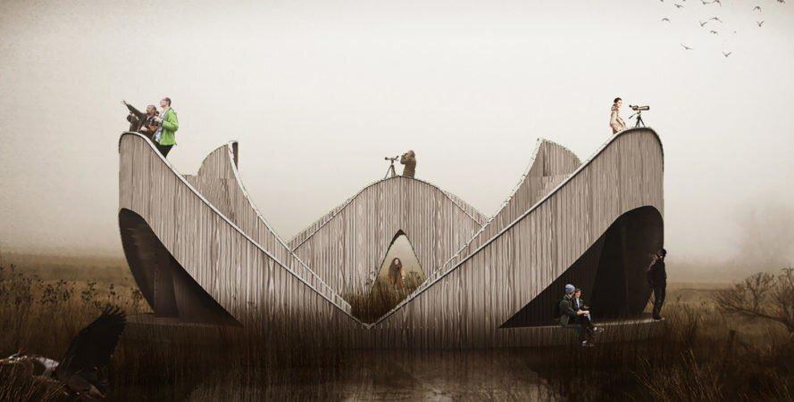 عجایب شهر/ رصدخانهای برای تماشای پرندگان در لتونی