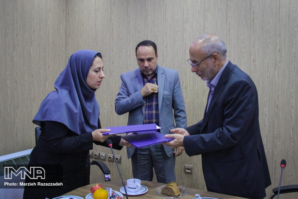 بازدید رئیس دانشگاه سپهر از خبرگزاری ایمنا