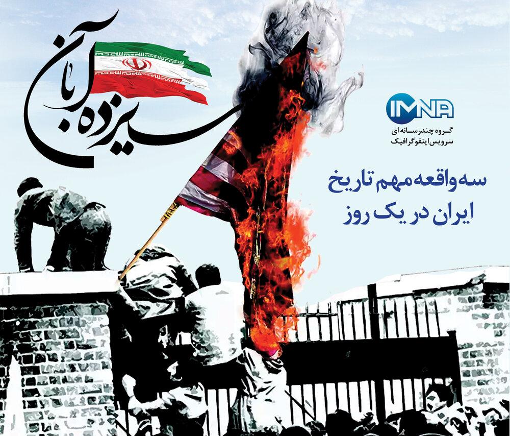 ۱۳ آبان؛ سه واقعه مهم تاریخ ایران در یک روز