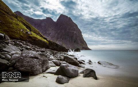 ساحل Kvalvika در نروژ