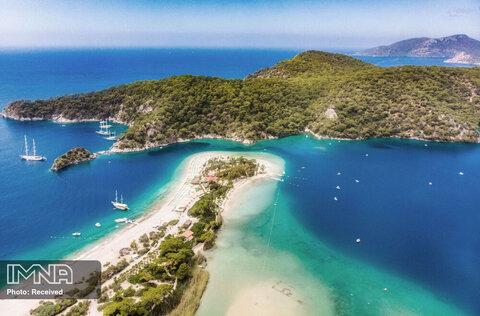 ساحل Oludeniz در ترکیه