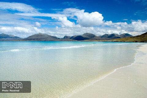 ساحل Luskentyre Sands در اسکاتلند