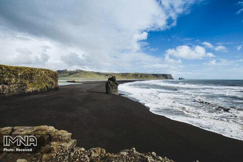 ساحل Black Sand در ایسلند