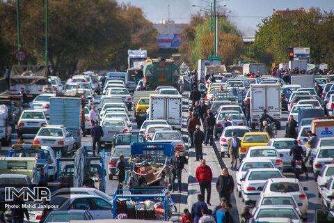آخرین وضعیت ترافیکی خیابانهای کلان شهر اصفهان