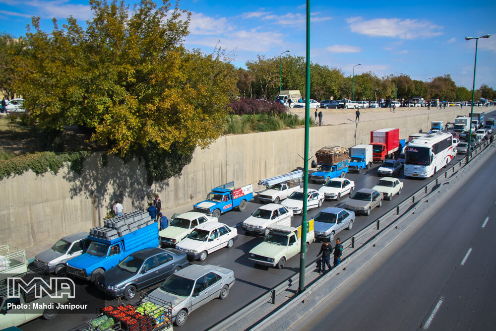 آخرین وضعیت ترافیکی خیابان های کلان شهر اصفهان