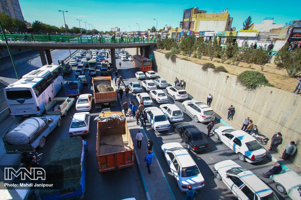 آخرین وضعیت ترافیکی خیابان های کلانشهر اصفهان