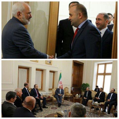 ظریف با رئیس گروه دوستی پارلمانی گرجستان و ایران دیدار کرد