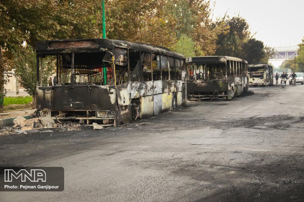 خسارت چند میلیاردی ناوگان اتوبوسرانی در ناآرامی های اخیر