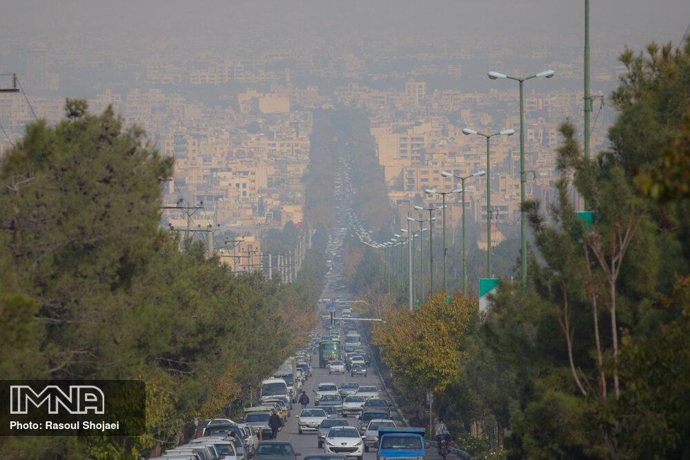 افزایش غلظت آلایندهها در کلانشهر اصفهان از امشب