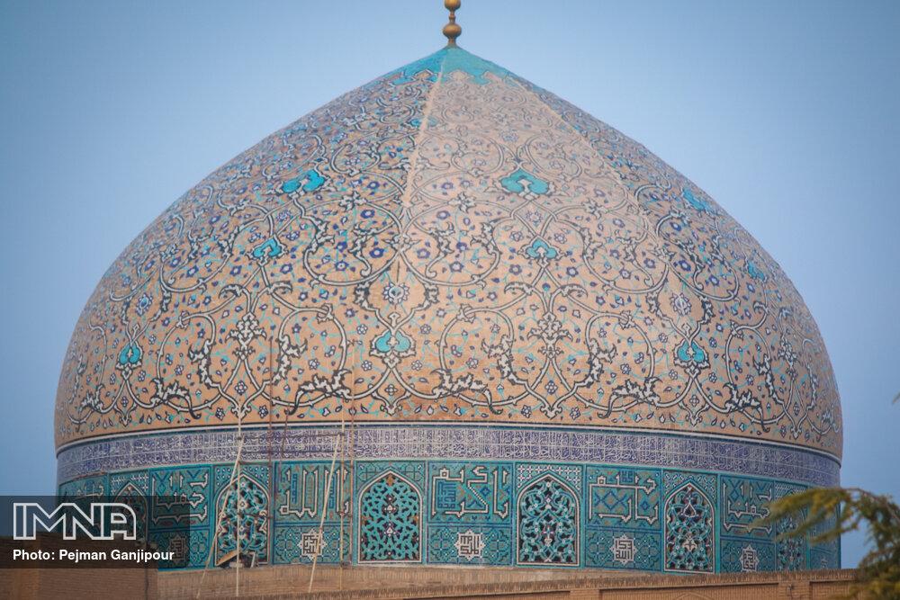 توضیحات الهیاری در خصوص مرمت گنبد شیخ لطف الله