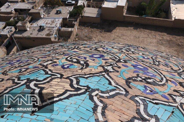 توضیحات مرمت گر گنبد مسجد شیخ لطف الله در گفتگو با ایمنا