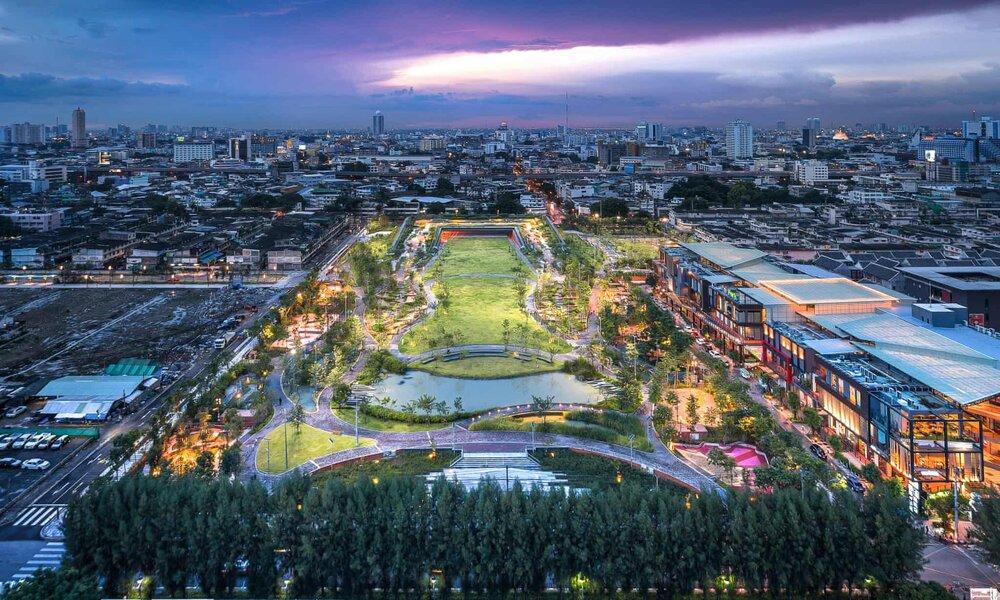 """""""پارک ضد سیل"""" بانکوک را از  غرق شدن نجات میدهد!"""