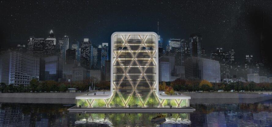 احداث اولین برج چوبی شناور جهان
