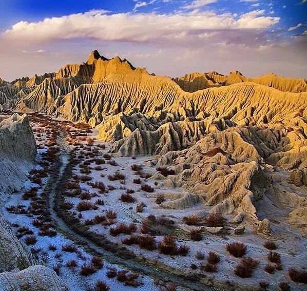 Iran's Martian mountains