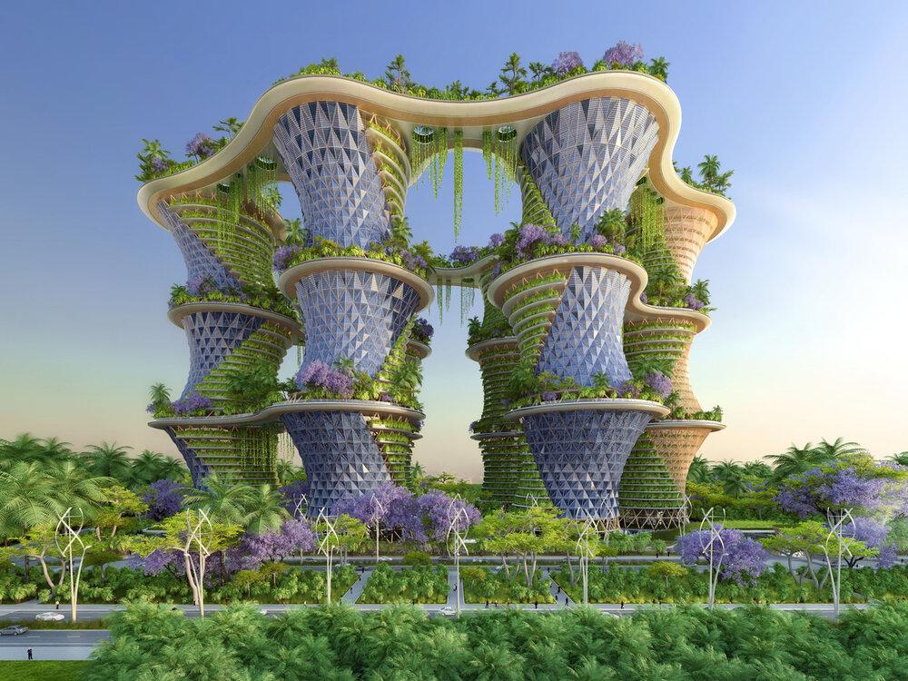سازههایی که انرژی تجدید پذیر تولید میکند+ عکس