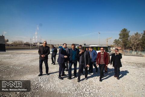 بازدید شهردار و اعضای شورای شهر تبریز از پروژه های شهری اصفهان
