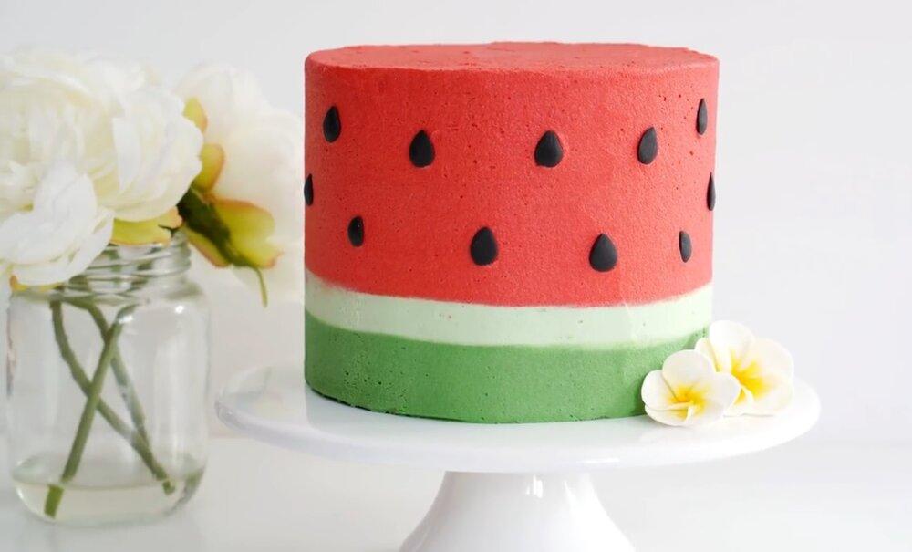 جدیدترین مدل کیک هندوانه برای شب یلدا + آموزش