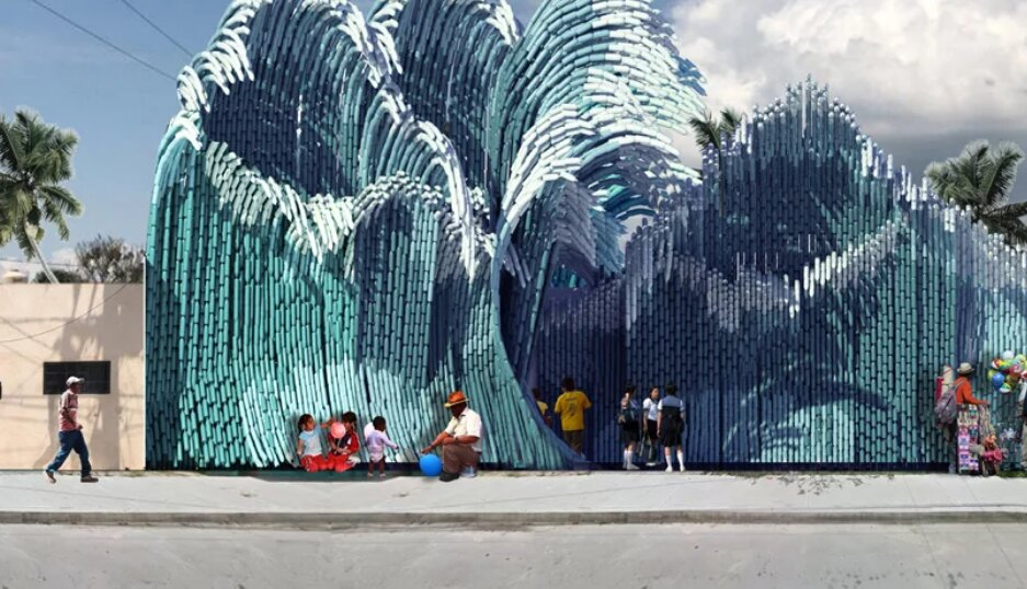امواج پلاستیکی  از زبالههای بازیافتی