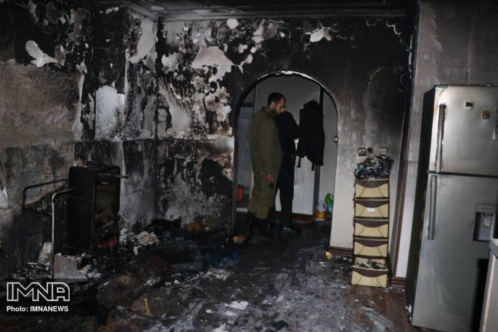 آتشسوزی منزل مسکونی در سپاهانشهر+ عکس