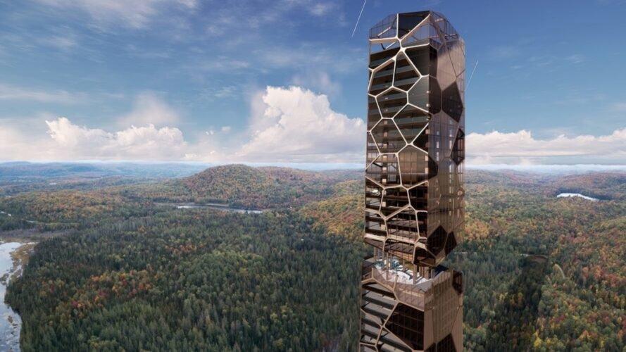 برج انرژی در قلب جنگلهای کبک