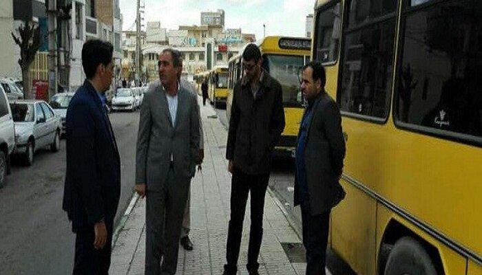ایستگاههای اتوبوس خطوط ترمینال شماره ۲ کرمانشاه بازسازی میشود