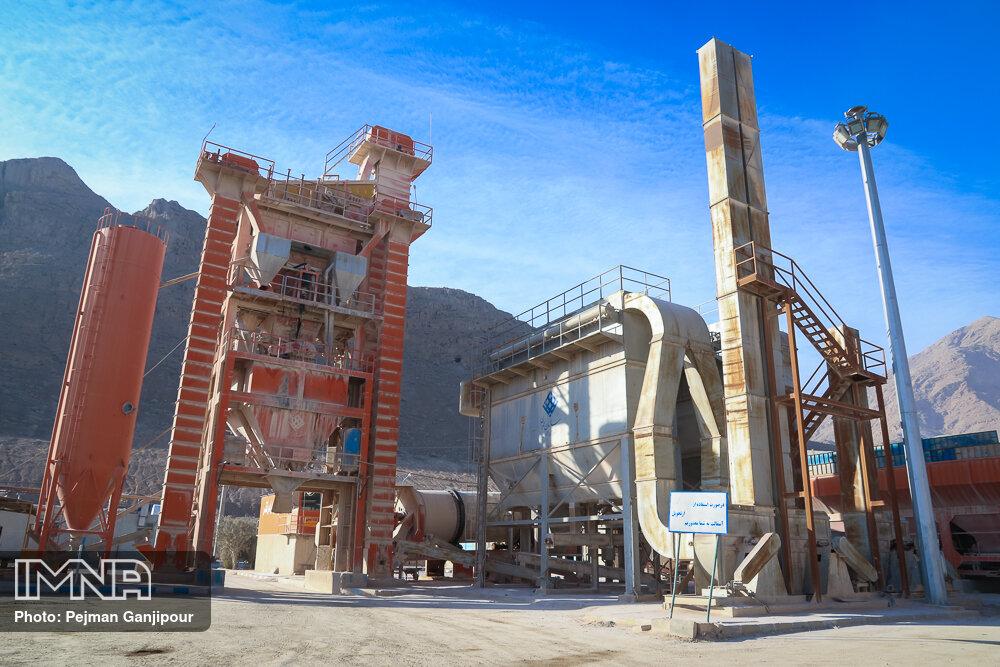 تولید ۴۹۰ تن آسفالت توسط کارخانه آسفالت و سنگشکن ملایر