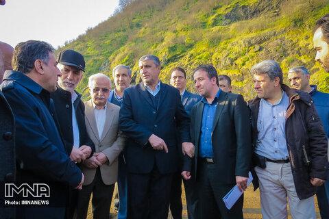 بازدید وزیر راه و شهرسازی از پروژه های اقتصادی بندر آستارا