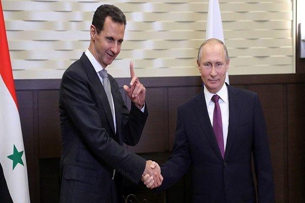 پوتین با بشار اسد دیدار کرد